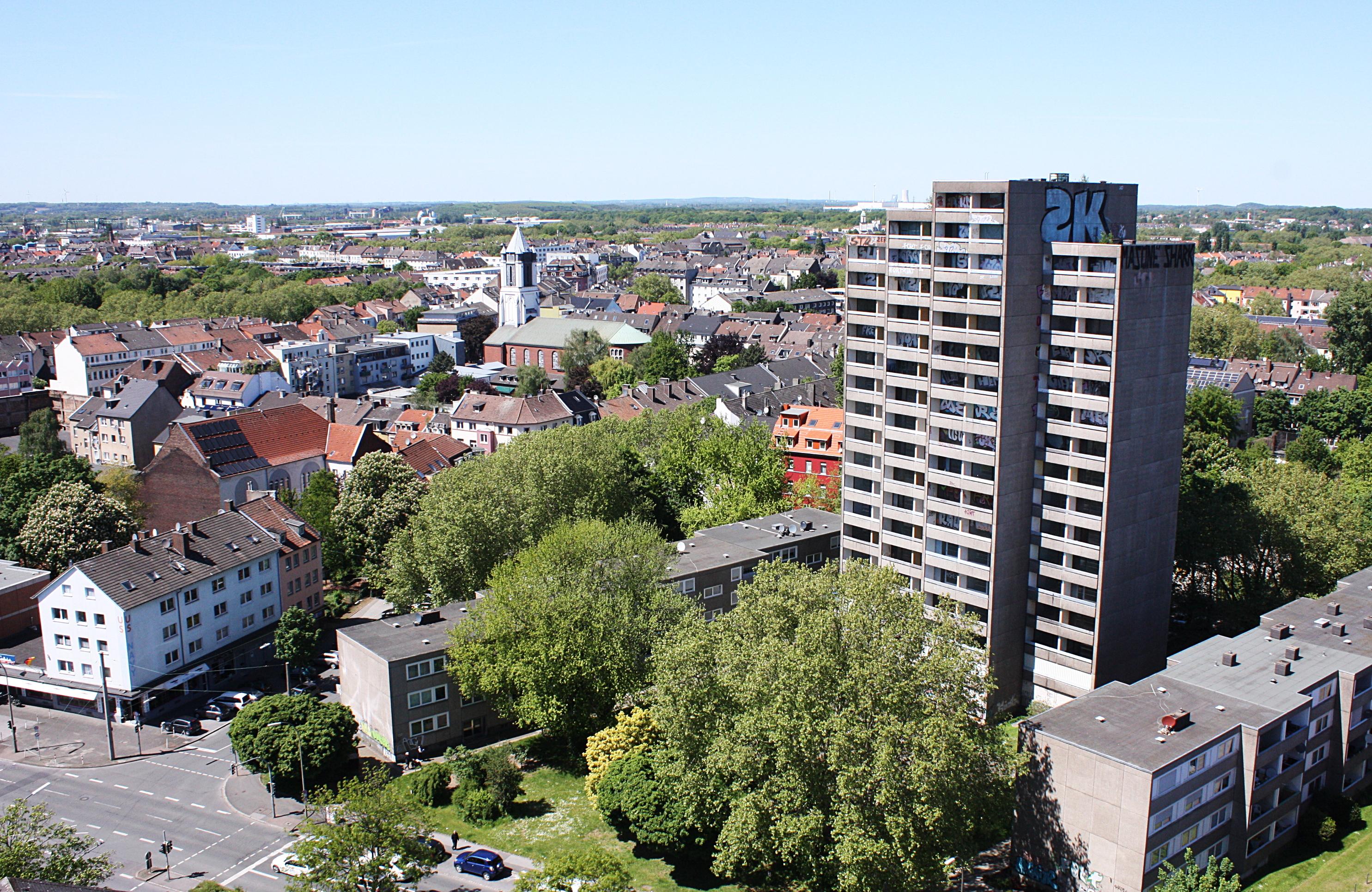 """Das Hochhaus in der Dortmunder Nordstadt steht seit 17 Jahren leer. Bekannt ist es als """"Horrorhaus""""."""
